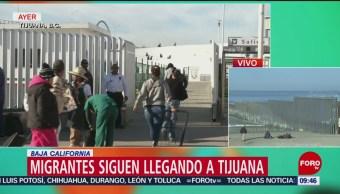 Migrantes siguen llegando a Tijuana, Baja California