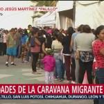 Miles de migrantes permanecen en Magdalena Mixhuca