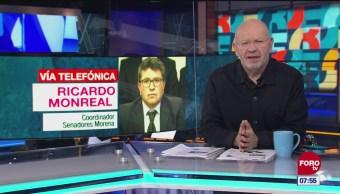 Monreal: AMLO no revisa iniciativas de legisladores de Morena