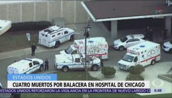 Mueren 4 personas por tiroteo en hospital de Chicago