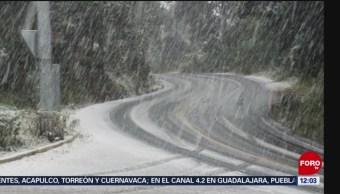 Nevado de Toluca se tapiza de nieve