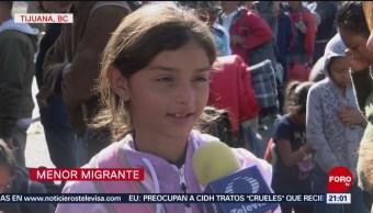Niños Migrantes Llegan A Tijuana Caravana