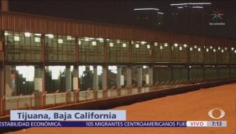 Nueva reja sustituye malla ciclónica en garita El Chaparral de Tijuana