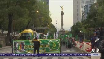 Organizaciones campesinas alistan marchas en Paseo de la Reforma