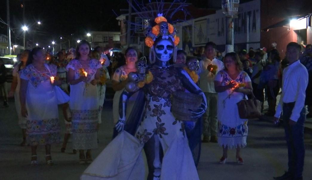 Paseo de las ánimas en Pomuch, Campeche