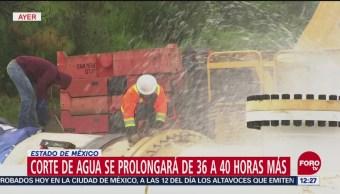 Personal de Conagua trata de corregir desplazamiento de pieza del Sistema Cutzamala