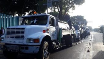 Monitorean reparto de agua en la Ciudad de México