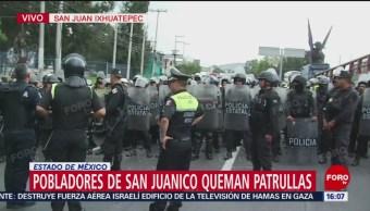 Policía estatal espera instrucciones para retirar bloqueo de Vía Morelos