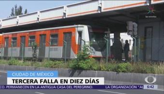 Por tercera ocasión, Línea 2 del Metro CDMX presenta fallas