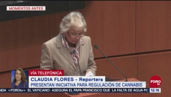 Sánchez Cordero presenta iniciativa para regulación de la marihuana
