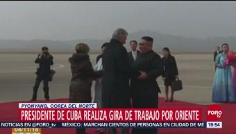 Presidente de Cuba llega a Pyonyang