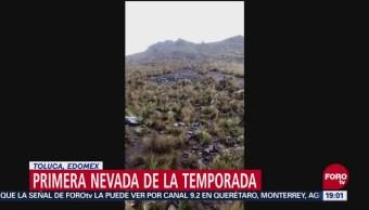 Primera Nevada Volcán Nevado De Toluca