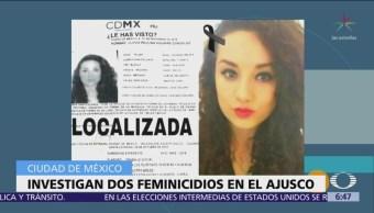 Procuraduría CDMX investiga 3 feminicidios en zona del Ajusco