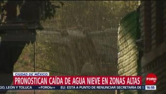 Pronostican caída de aguanieve en CDMX