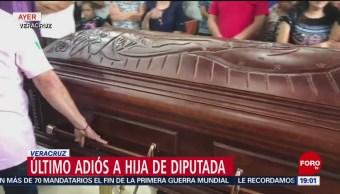 Realizan funeral de funeral de Valeria Cruz Medel