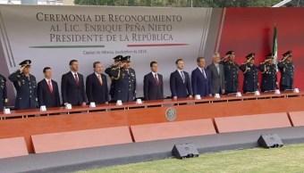 Fuerzas armadas reconocen liderazgo de Enrique Peña Nieto