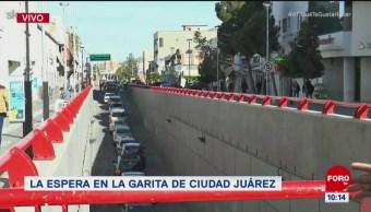 Reportan tránsito pesado en garita de Ciudad Juárez