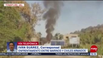 Retiran Tres Vehículos Fueron Usados Durante Enfrentamiento Tomatlán