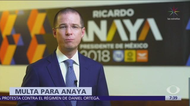 Ricardo Anaya pagará multa por calumnia contra José María Rioboó