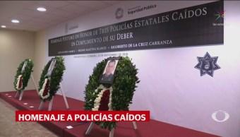 Rinden Homenaje Policías Asesinados Taxco Guerrero