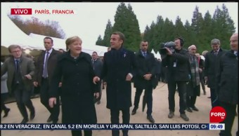 Macron Merkel Lugar Del Armisticio 1918 Emmanuel Macron Primera Guerra Mundial