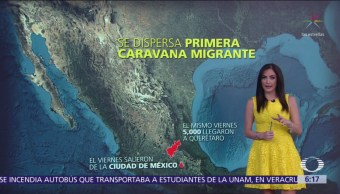 Se dispersa la primera caravana migrante