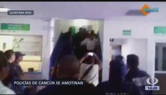 Se manifiestan policías en Quintana Roo
