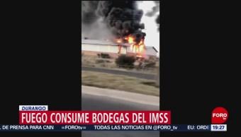 Se Registra Incendio Bodega Imss Durango