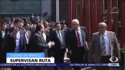 Sedena y Estado Mayor revisan ruta de AMLO para investidura