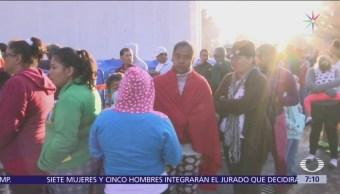 Segunda caravana migrante llega a Juchitán, Oaxaca