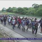 Segunda caravana migrante sale de Veracruz hacia Puebla