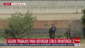 Siguen trabajos para reforzar cerca fronteriza en Tijuana