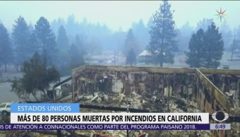 Sube a 82 cifra de muertos por incendios en California