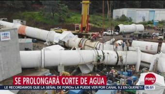 Suspenden bombeo en el Cutzamala; megacorte de agua se prolongará