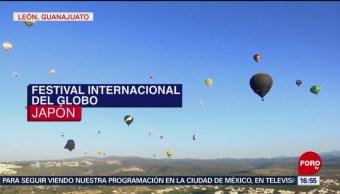Termina el festival del globo en León, Guanajuato