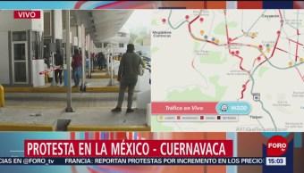 Termina Protesta En Caseta Autopista México-Cuernavaca Manifestantes Que Mantenían El Control De La Caseta Estudiantes De La Normal De Ayotzinapa Desaparecidos