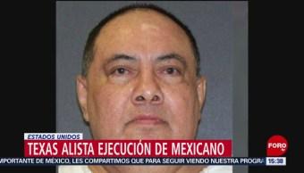 Todo listo en Texas para ejecución de mexicano