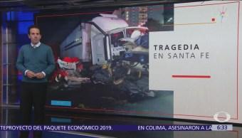 Tráiler sin frenos arrolla más de 10 autos en Santa Fe