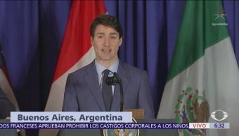 Trudeau afirma que Canadá apoyará mayores beneficios para trabajadores en marco T-MEC
