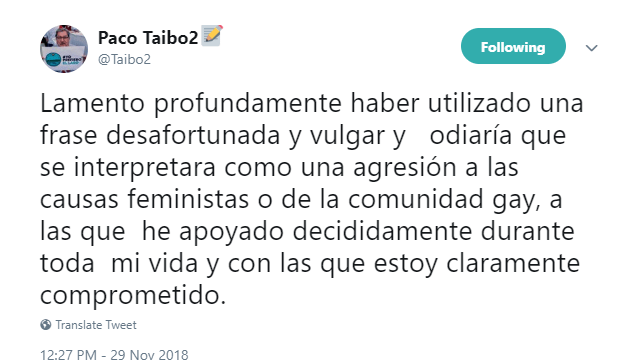 Senado retira temporalmente dictamen para que Taibo II dirija FCE, exigen que ofrezca disculpa