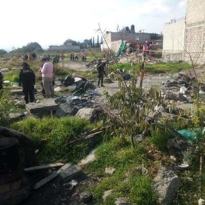 Explosión por pirotecnia deja 2 muertos en Tultepec, Estado de México