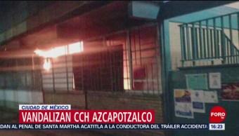 Vandalizan CCH Azcapotzalco en la Ciudad de México