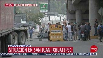 Vecinos de San Juanico se agrupan a la espera de acciones policiales