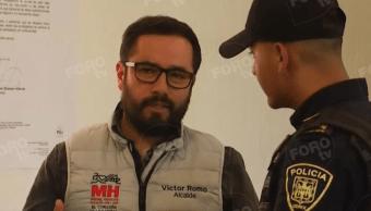 Víctor Hugo Romo es detenido y presentado ante Ministerio Público