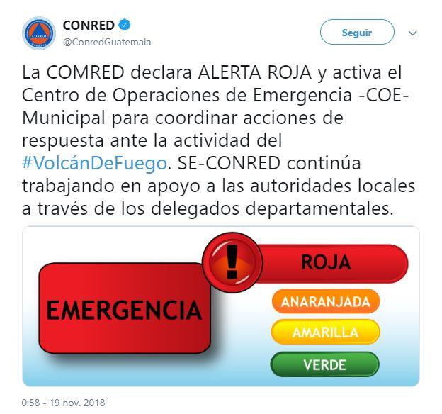 guatemala desalojan comunidades erupcion de volcan de fuego activan alerta roja