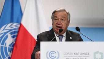 mundo no esta tomando direccion correcta cambio climatico advierte onu
