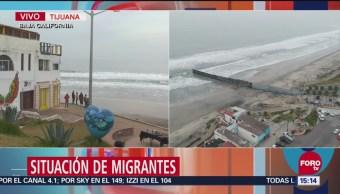 Patrulla fronteriza mantiene estricta vigilancia en frontera de Tijuana