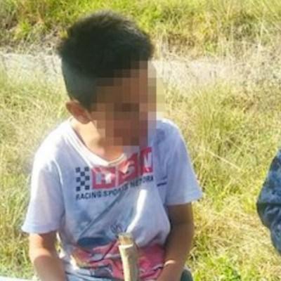 Abandonan a niño de 10 años en medio de la carretera México-Pachuca