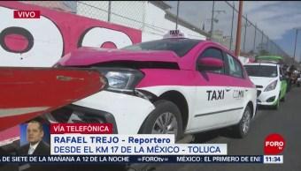 Accidente en la México-Toluca deja un herido