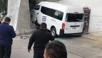 Choque de transporte público deja nueve lesionados en Tlalnepantla